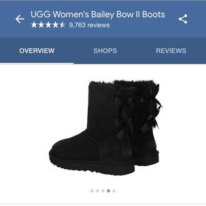 BNIB Ugg Bailey Bow Boots